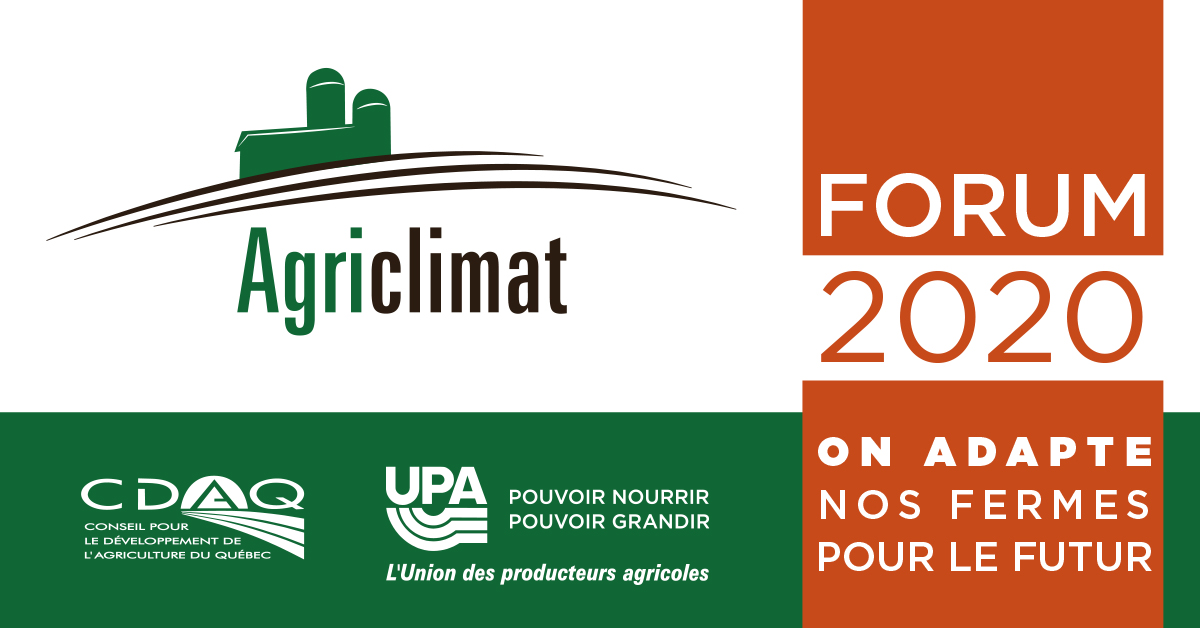 Forum 2020 Agriclimat - UPA - CDAQ